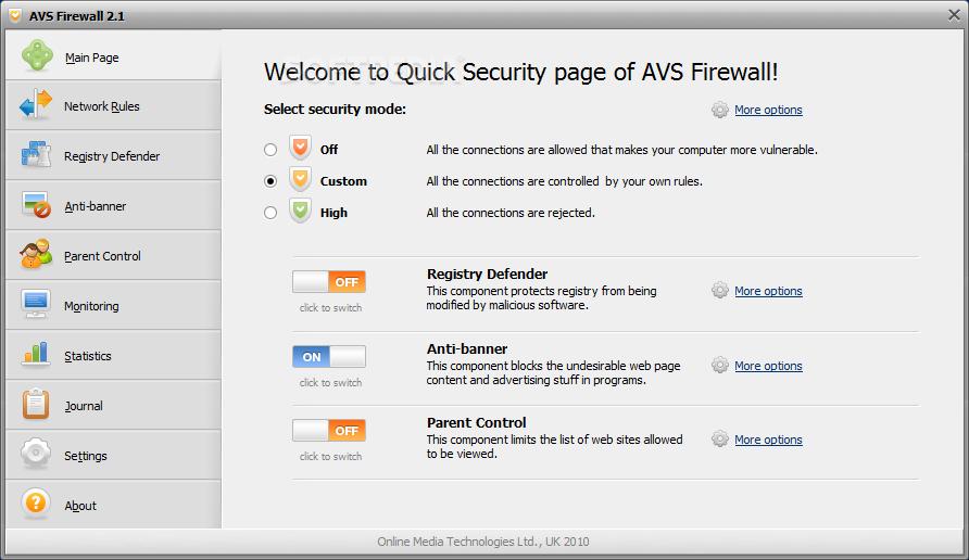 AVS free firewall